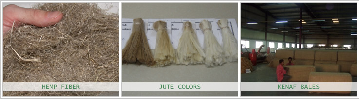 Jute Fiber Colors, Hemp Fiber and Kenaf Fiber Bales